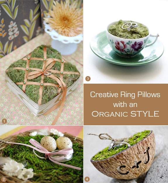 Eco-friendly ring pillows that are DIY-able