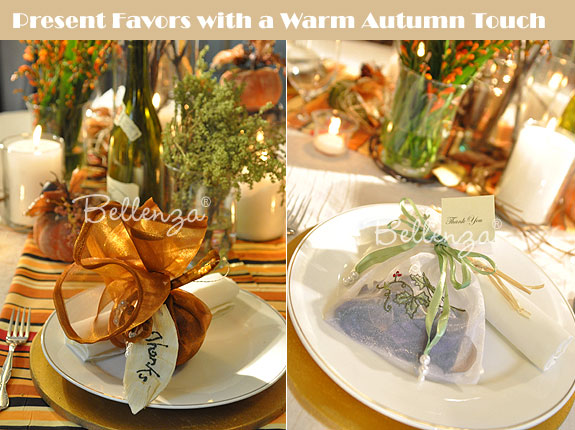 Autumn favor ideas