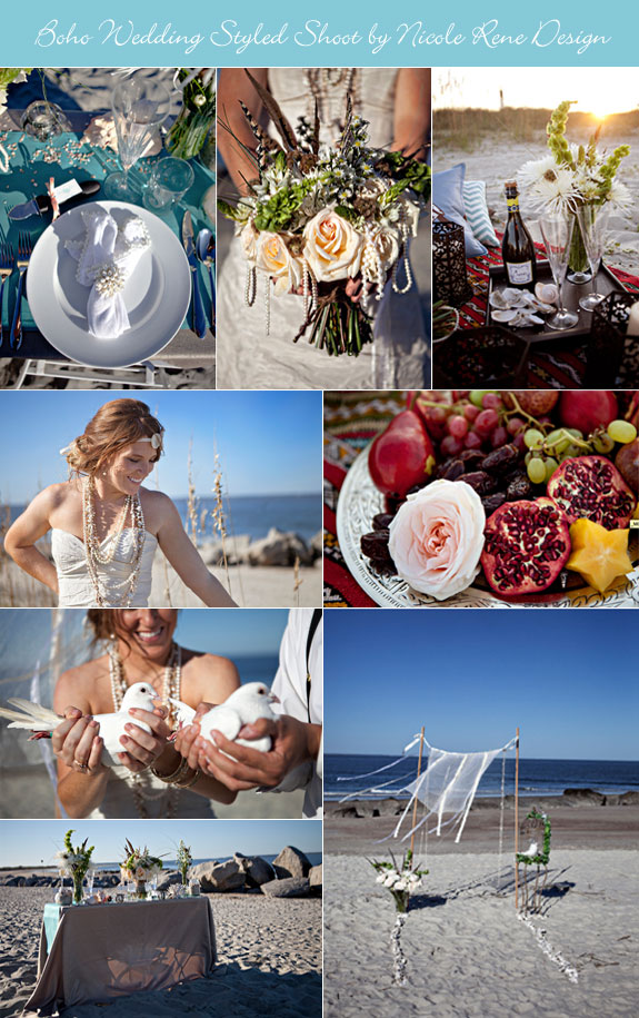 Boho wedding ideas by the beach