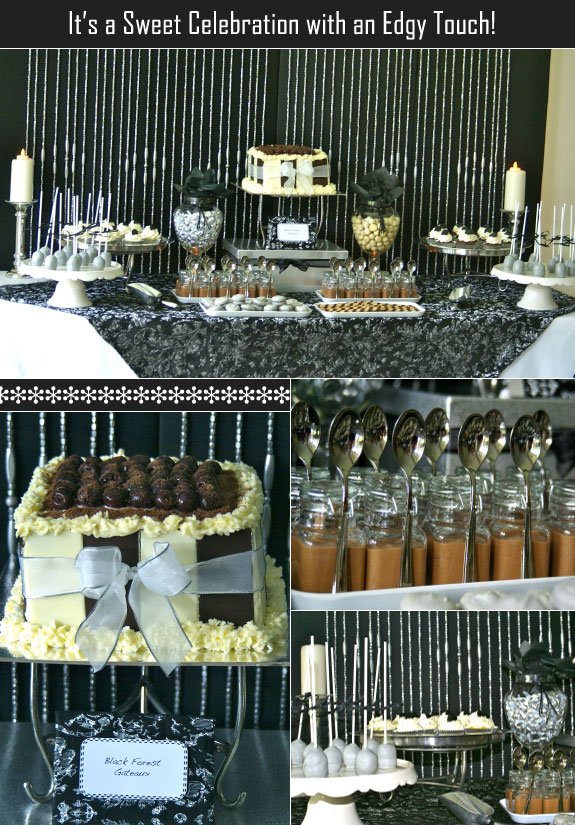 Setting up the dessert table