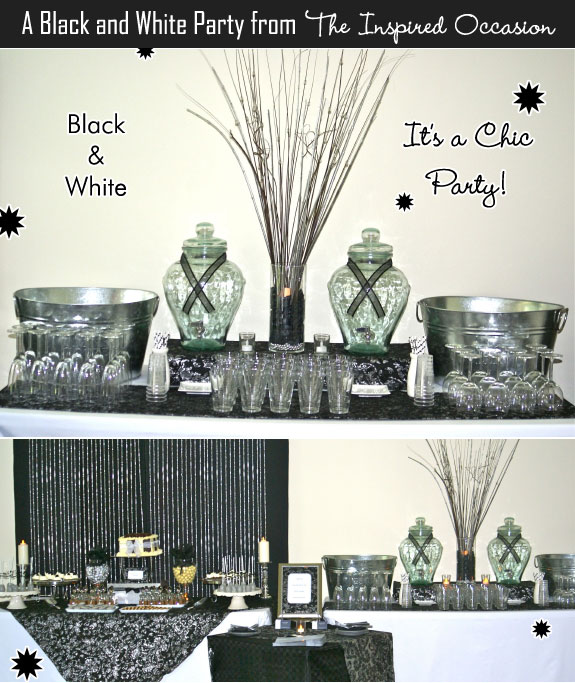 A Black White and Silver Party by The Inspired Occasion Unique