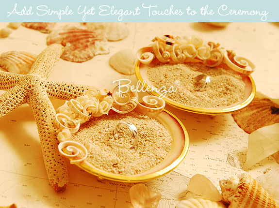 Wedding ring shell trays