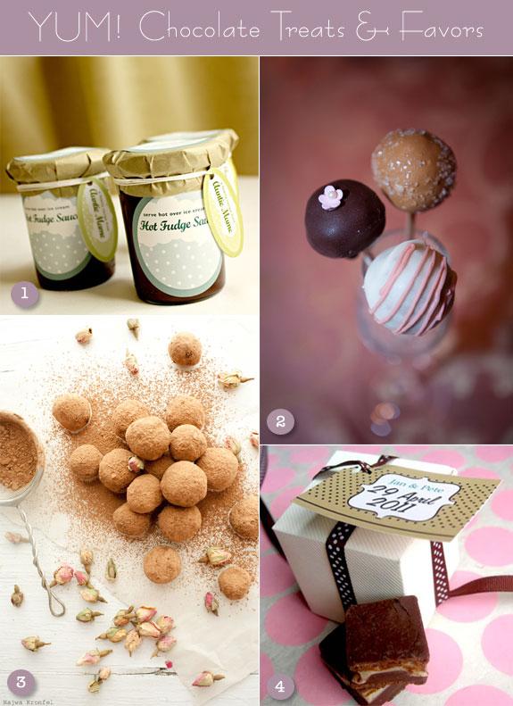 Chocolate fudge, rose truffles, cake pops, brownies