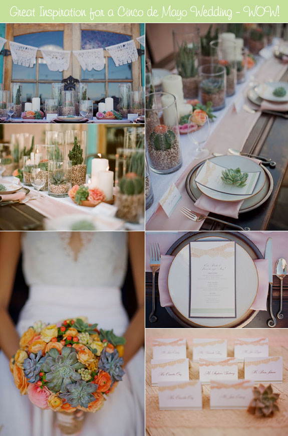 Elegant Details for a Cinco de Mayo Wedding