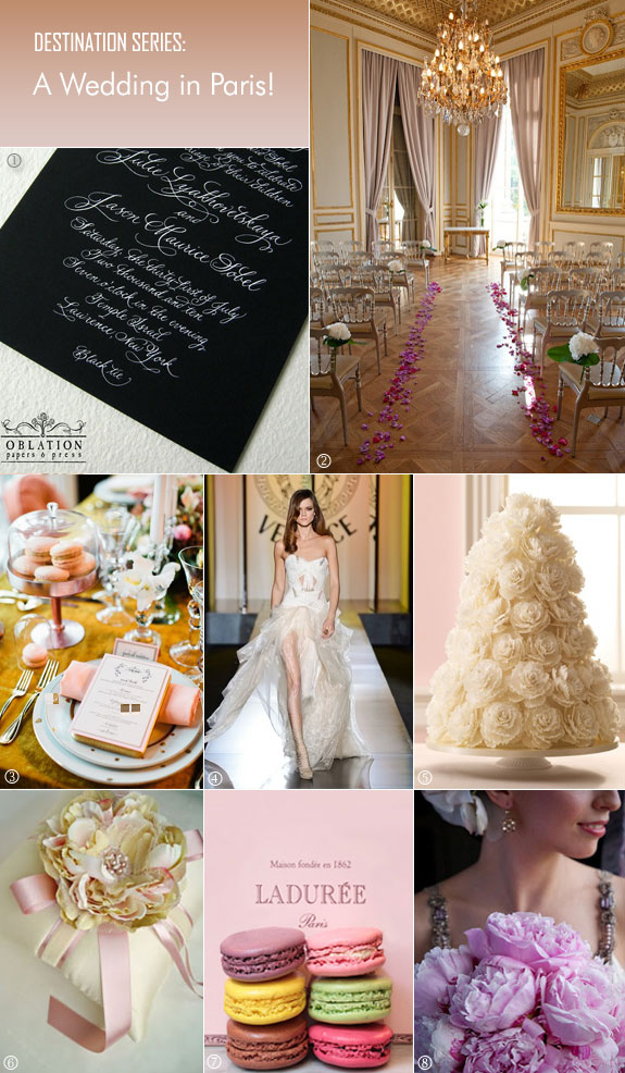 Inspiration board for Paris wedding