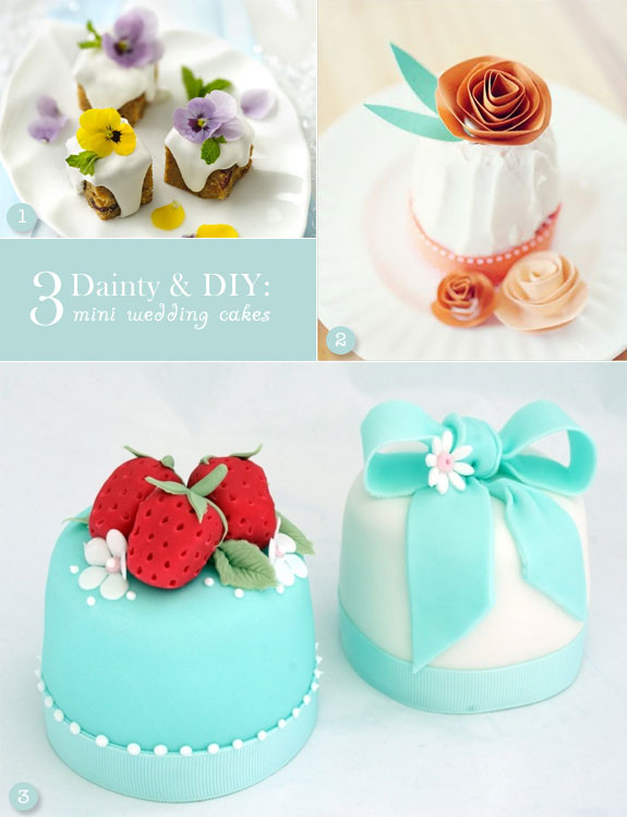 DIY mini wedding cakes