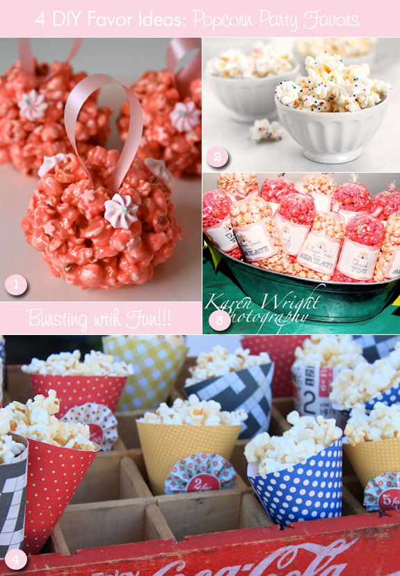 Ideas for popcorn favors