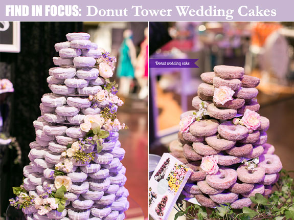 Alternative wedding donut tower cakes