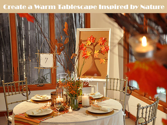 Autumn tablesetting for reception