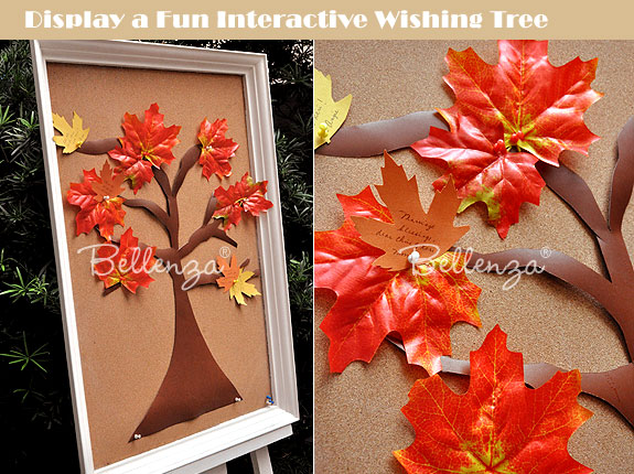 Fall wedding wish tree