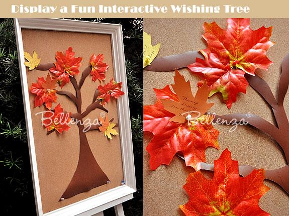 Fall wedding wish tree