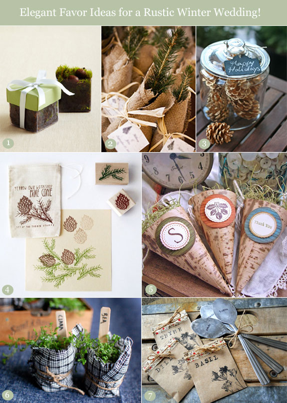 Chic Winter Wedding Favor Ideas With A Rustic Flair