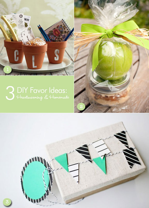 DIY favors ideas that are homemade