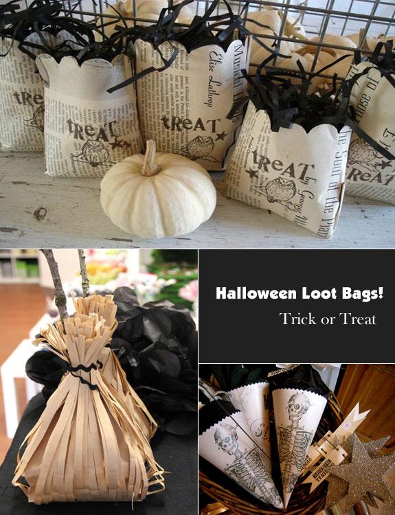 Halloween Loot Bags with a Grownup Look