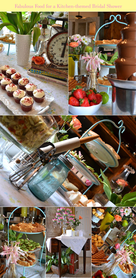 Cupcakes, crostinis, strawberries for a bridal shower