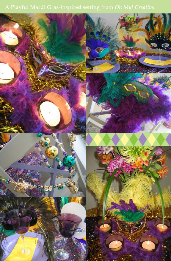 Mardi Gras table decorations