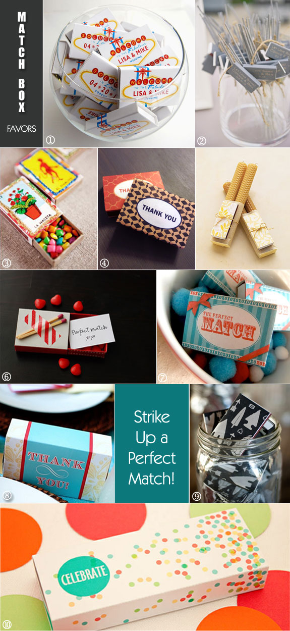 Strike Up The Perfect Match With Cool Match Box Favors Unique