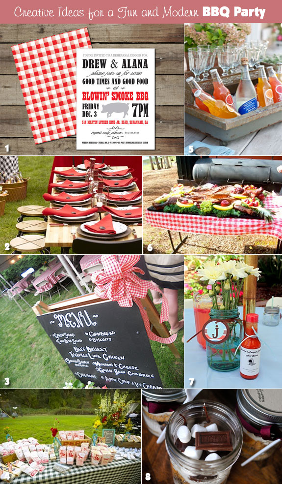 Ideas For A Modern Bbq Rehearsal Dinner