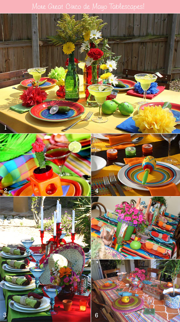Cinco de Mayo themed tables
