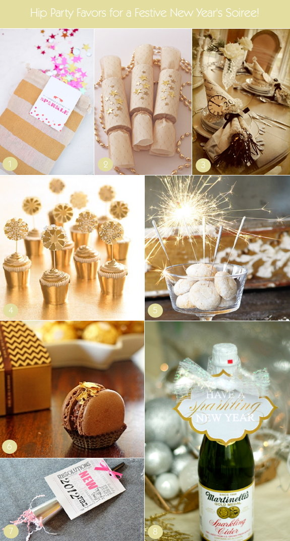 Hip and modern new year's favors