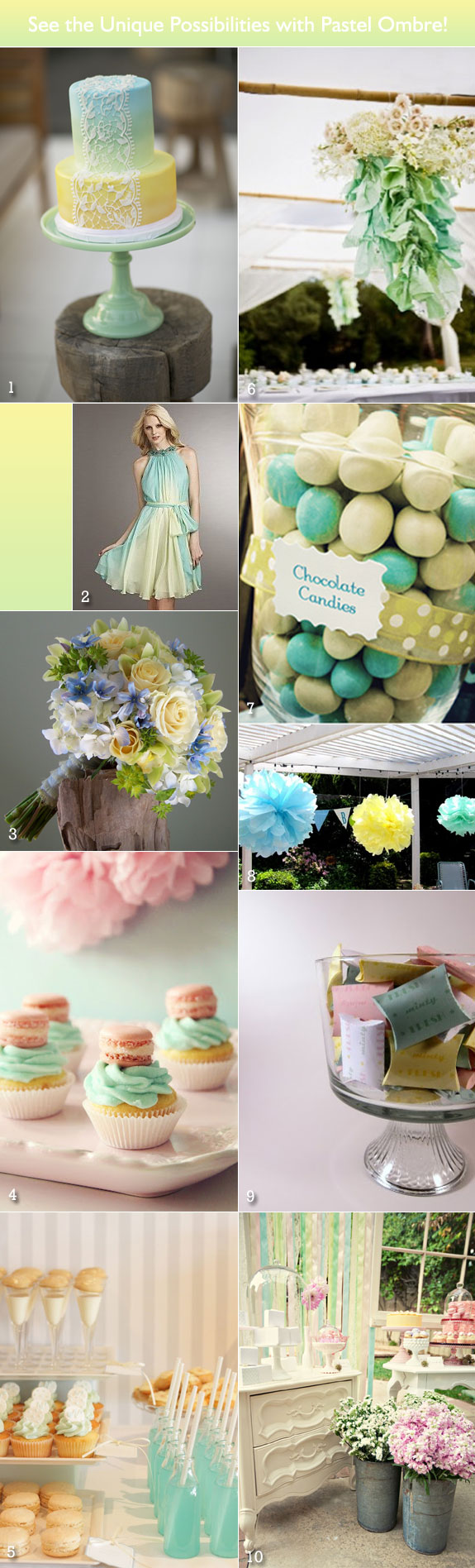 inspiration boards for ombre palette