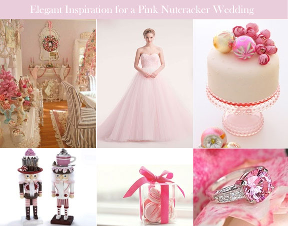 Pink Christmas wedding for Nutcracker theme