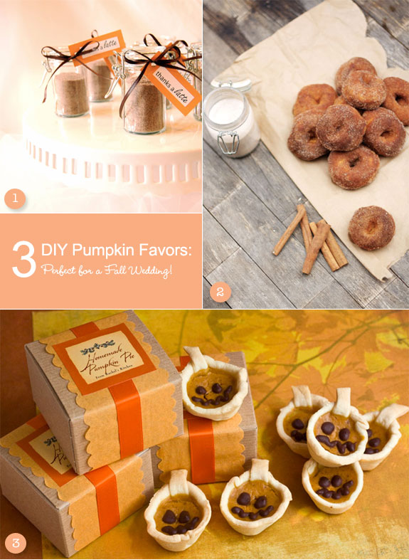 Yummy pumpkin favor ideas for a fall wedding unique wedding ideas pumpkin favors that are diy junglespirit Image collections