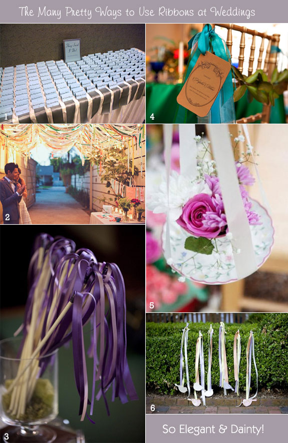 Creative Ways To Use Ribbons At A Wedding Unique Wedding Ideas