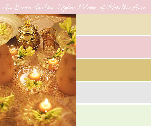 Arabian Night's color palette with metallic accents