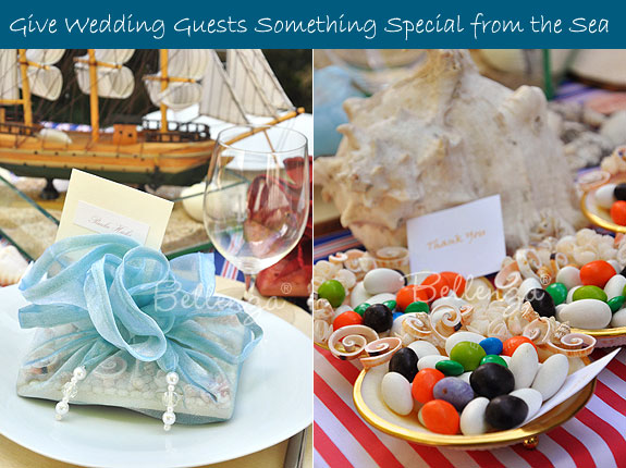 Seashell party favors for guests