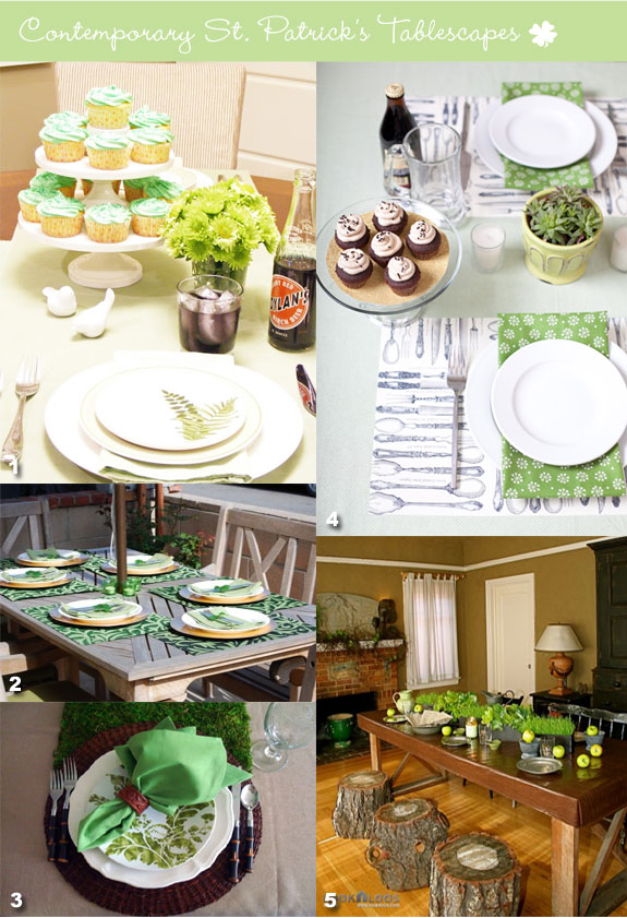 Modern St. Patrick's table setting