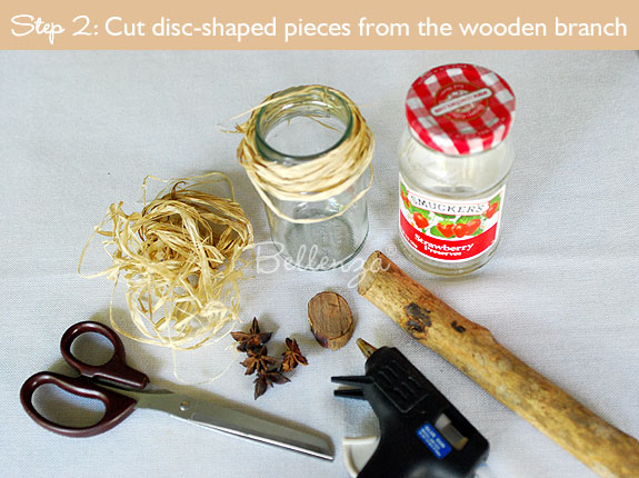 Cut the wooden discs