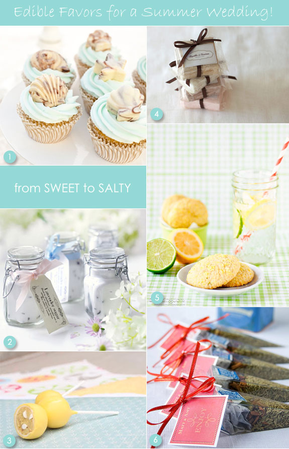 Edible favors for summer wedding