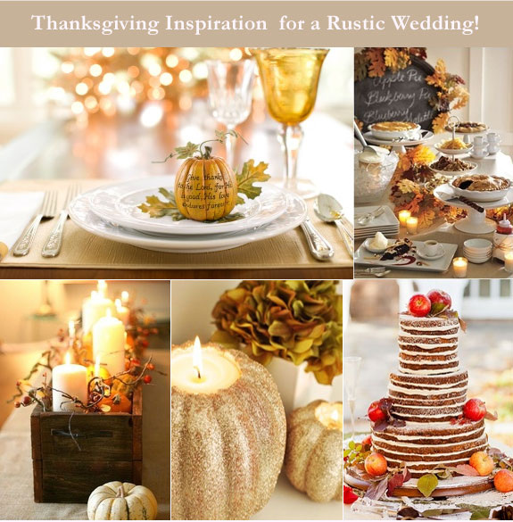 Thanksgiving rustic wedding inspiration board