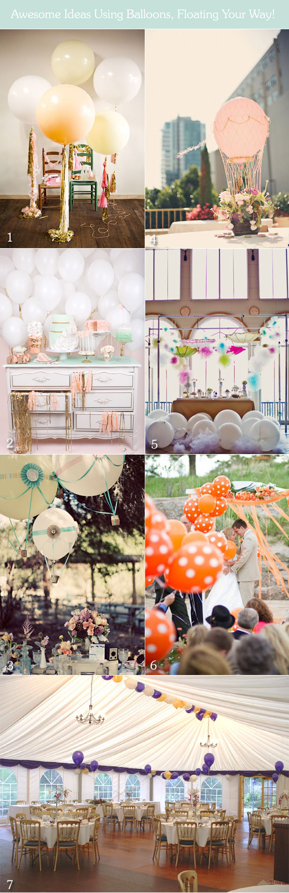 Ideas on using balloons as wedding decorations
