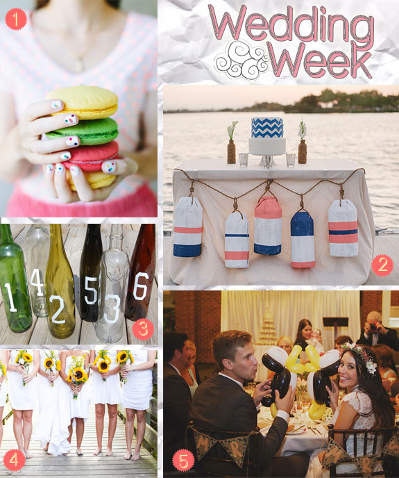 Crafty wedding ideas from garlands to guestbooks to flowers to balloons