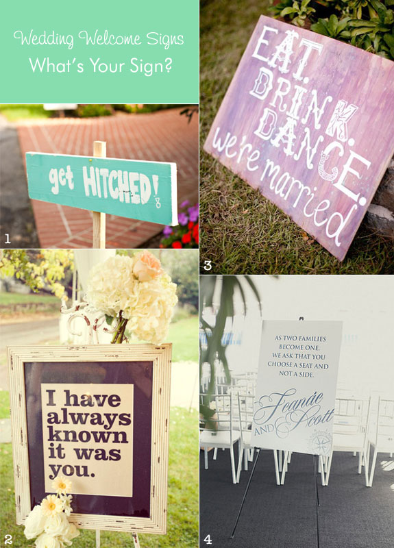 Ideas For Wedding Welcome Sign