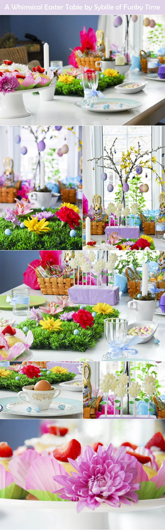 Whimsical Easter Table Decorations
