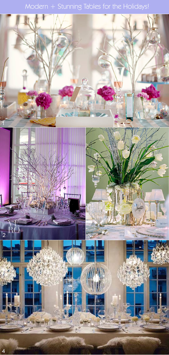 Modern holiday table settings