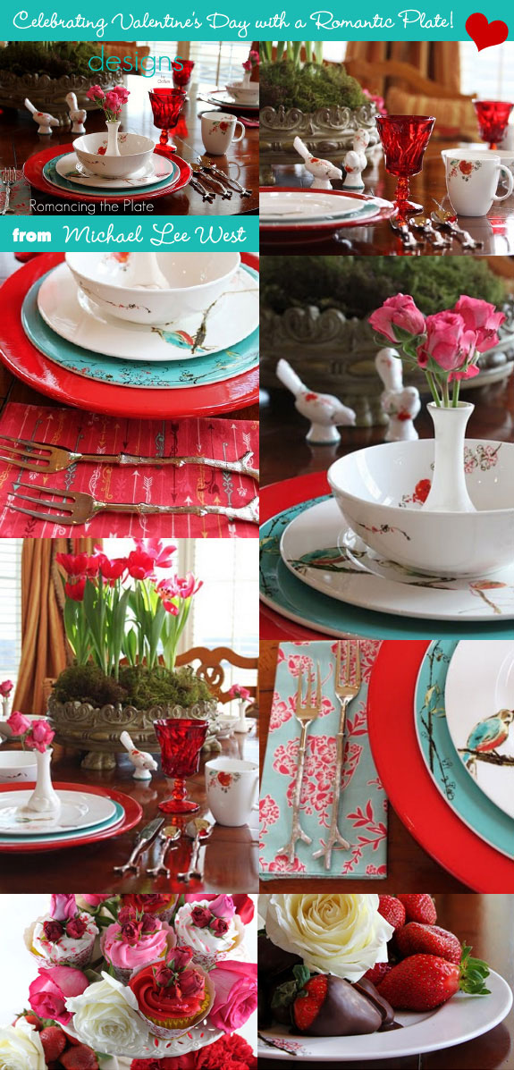 Valentine's romantic table setting