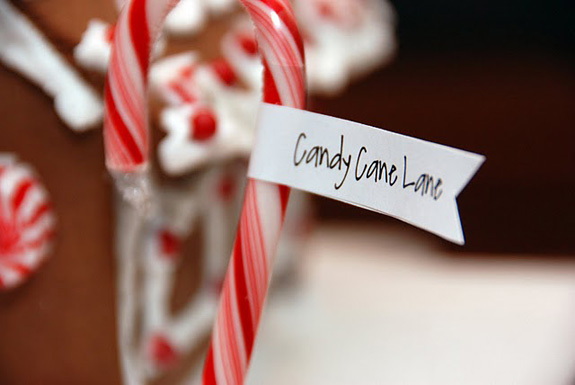 peppermint candy canes with flags