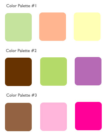 Assorted color palette for summer wedding