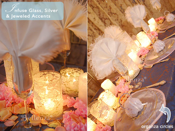 Shabby chic table settings