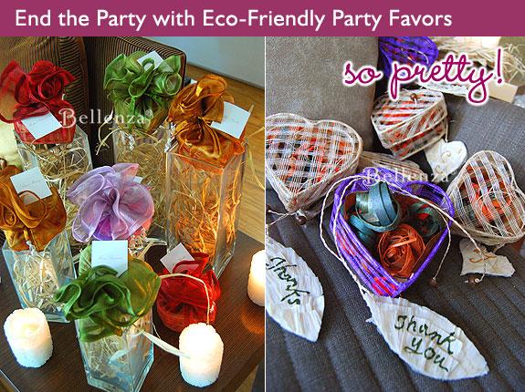 Guest favors for a fondue party