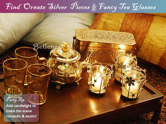 Ornate silver teapot