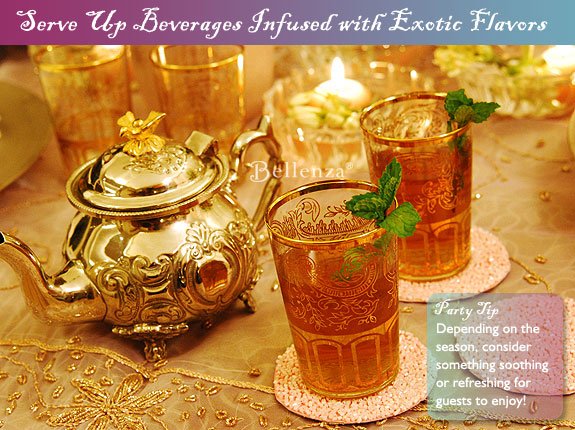 Moroccan hot mint tea