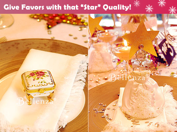Hollywood theme favors like glamorous mini dress