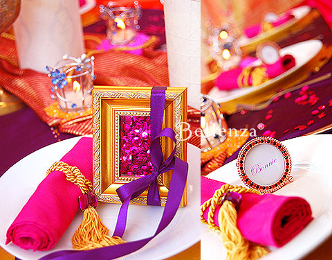 Picture frames in gold and crystal