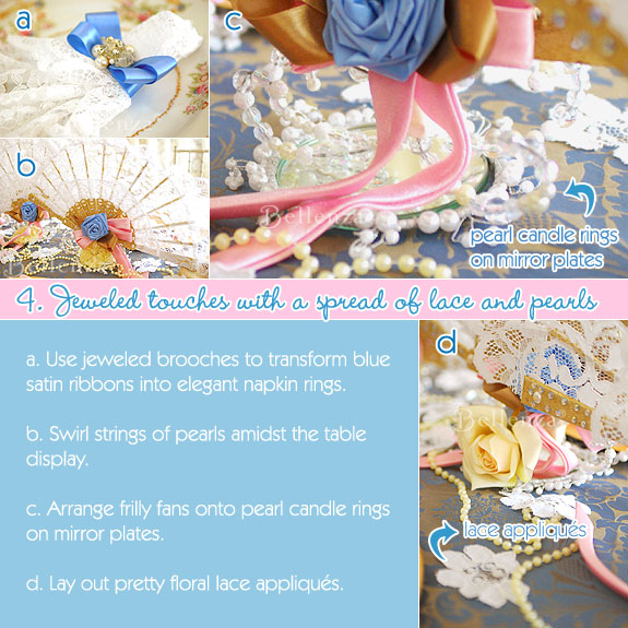 Jewel accents for a Marie Antoinette tea party