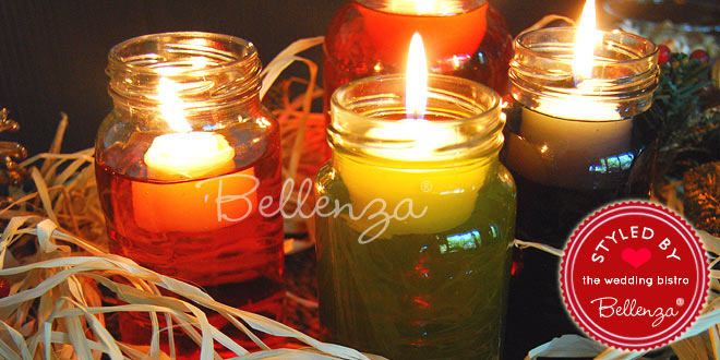 5 DIY Christmas Wedding Decorations: with Floating Centerpieces in Mason Jars